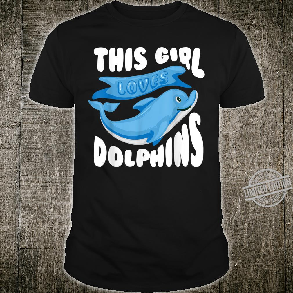 Cute Stylish This Girl Loves Dolphins Shirt