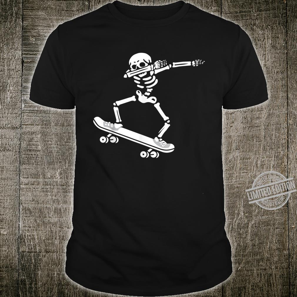 Dabbing Skeleton Skateboard Costume Halloween Shirt