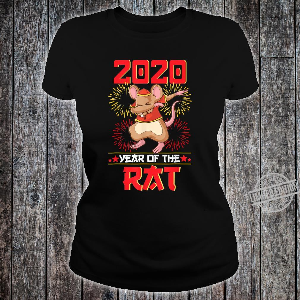 Dabbing Year Of The Rat Shirt Happy Chinese New Year 2020 Shirt ladies tee