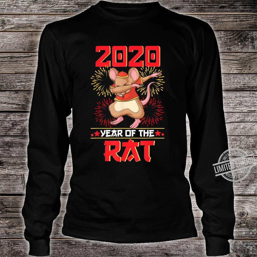 Dabbing Year Of The Rat Shirt Happy Chinese New Year 2020 Shirt long sleeved