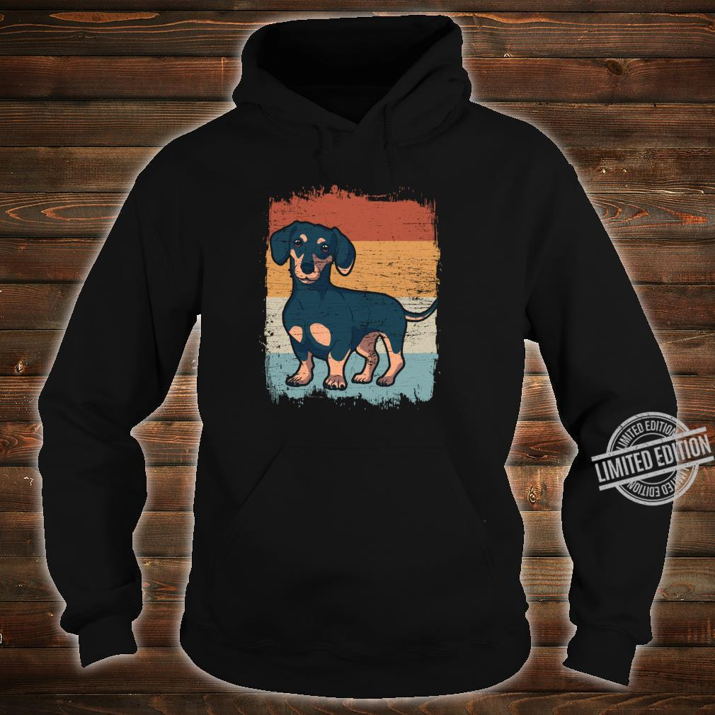 Dackel Dackelhund Silhouette Retro Geschenk Shirt hoodie