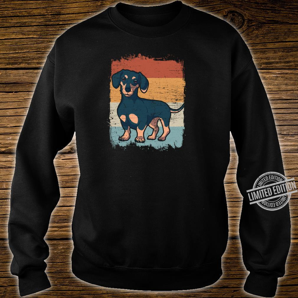 Dackel Dackelhund Silhouette Retro Geschenk Shirt sweater