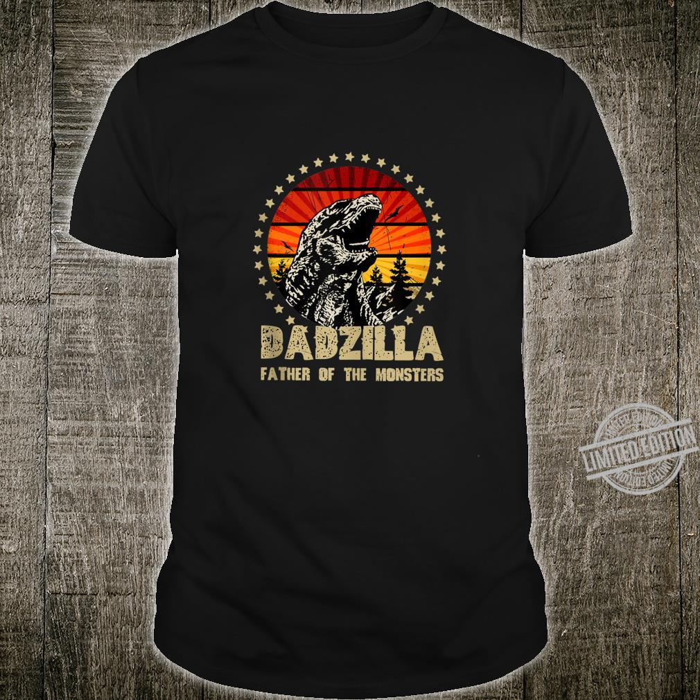Dadzilla Father Of The Monsters Retro Shirt