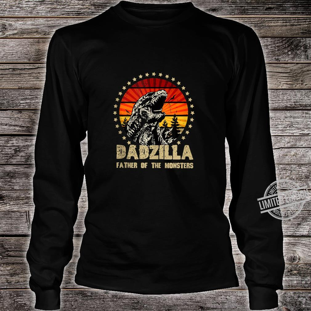 Dadzilla Father Of The Monsters Retro Shirt long sleeved