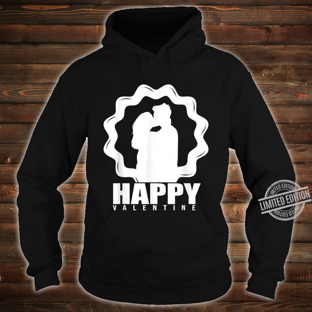 Delightful Kissing Valentine Artwork Shirt hoodie
