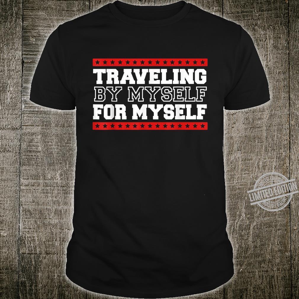 Delightful Solo Traveler Cheerful Wanderlust Illustration Shirt