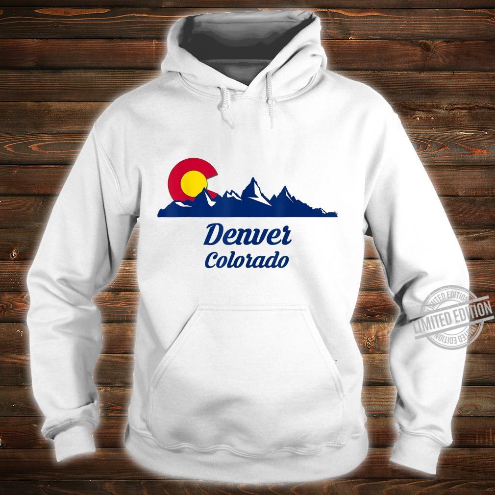 Denver Colorado CO Flag City Shirt hoodie