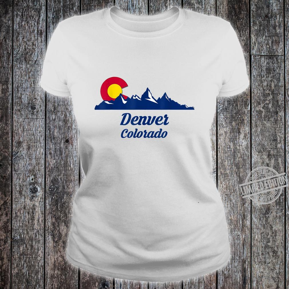 Denver Colorado CO Flag City Shirt ladies tee