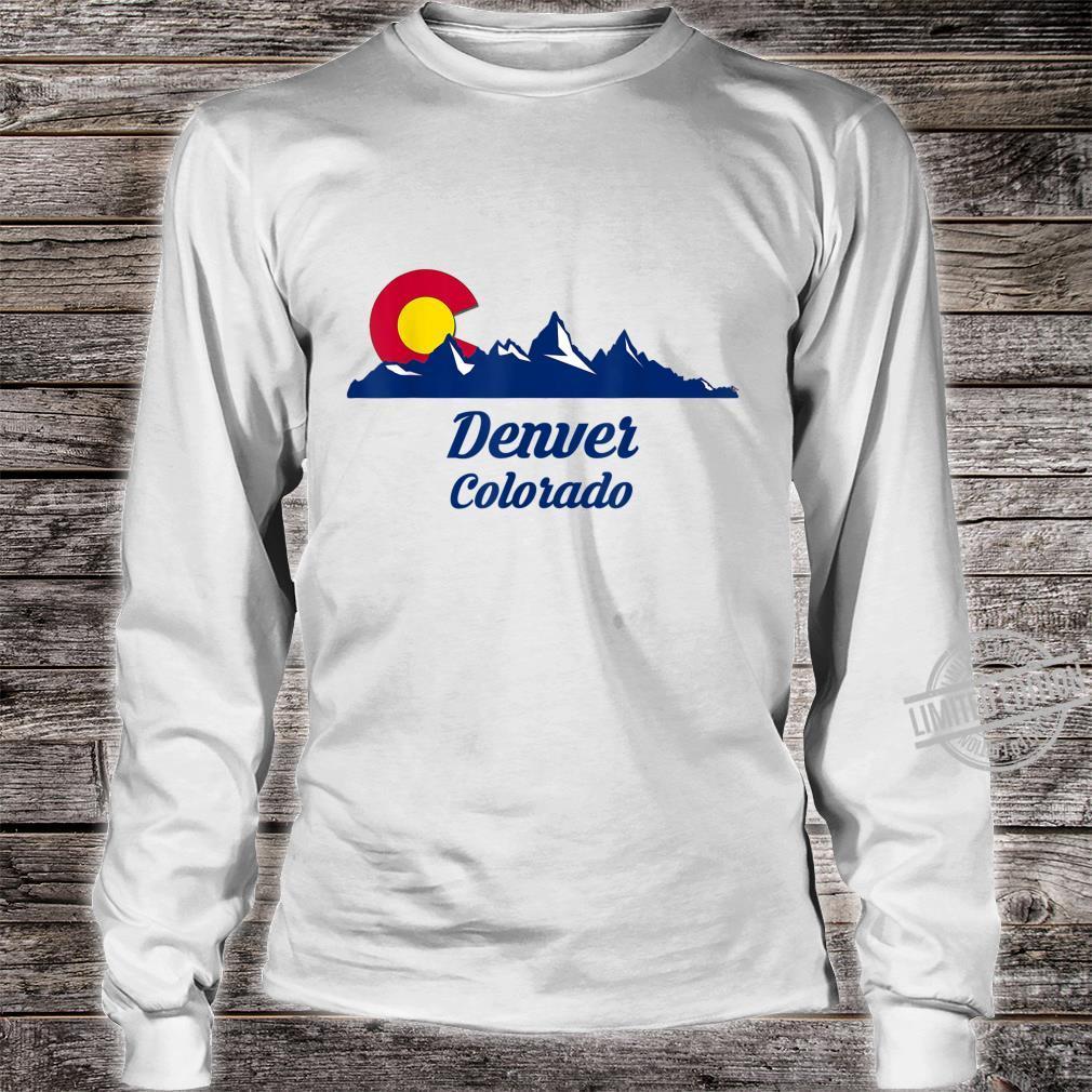 Denver Colorado CO Flag City Shirt long sleeved
