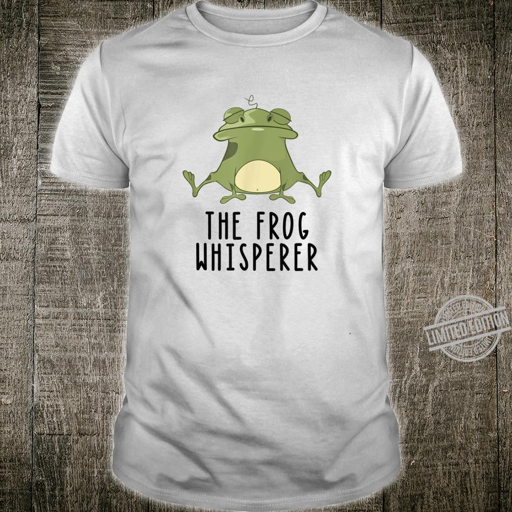 Der Frosch Whisperer Niedlich Lustige Kröte Liebhaber Shirt