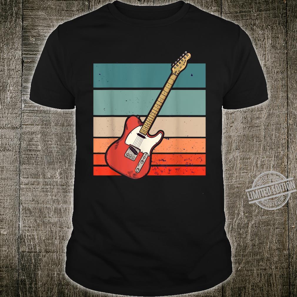 EGitarre Gitarre Vintage Retro Shirt