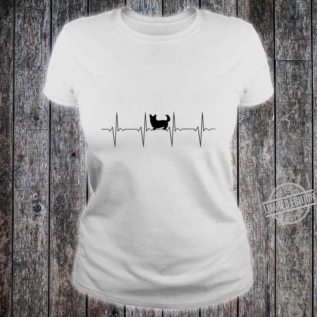 EKG Herzschlag Heartbeat Hund Corgi D0100476B Shirt ladies tee
