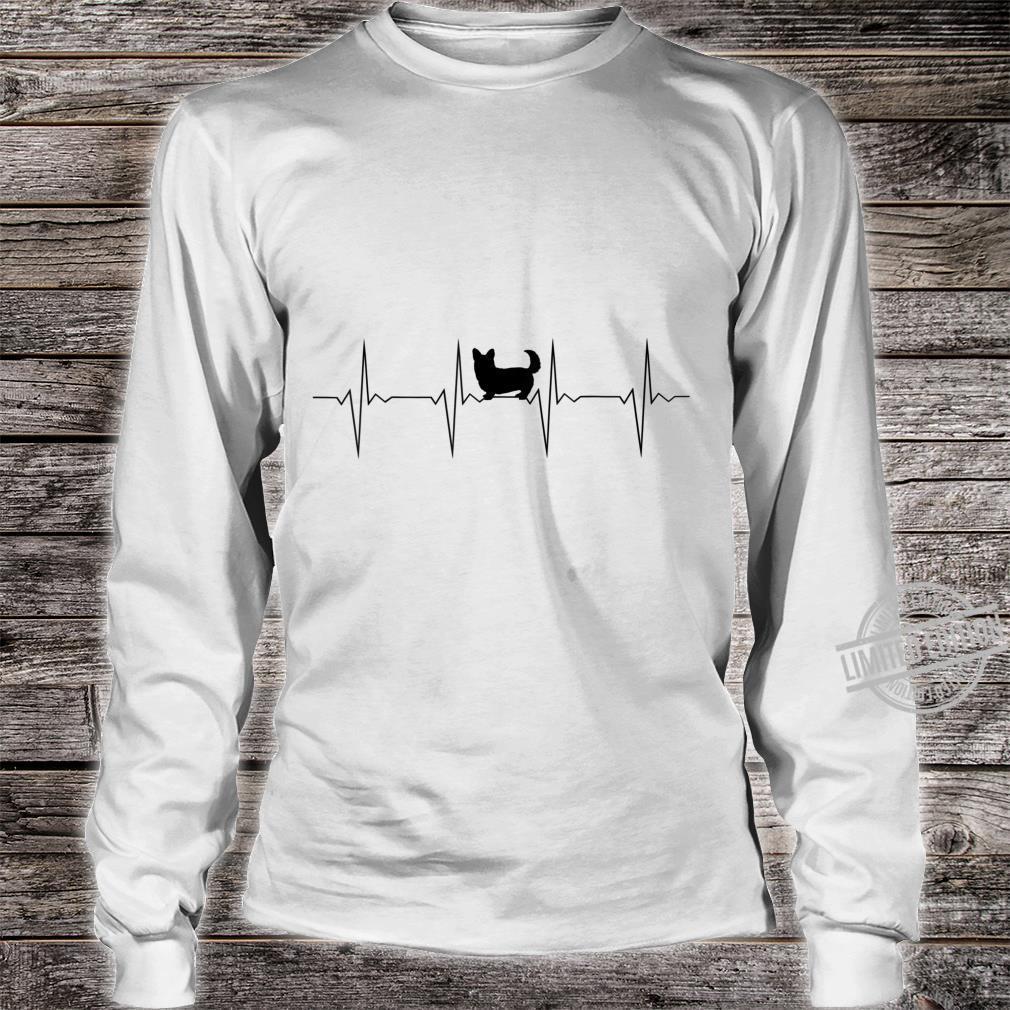 EKG Herzschlag Heartbeat Hund Corgi D0100476B Shirt long sleeved