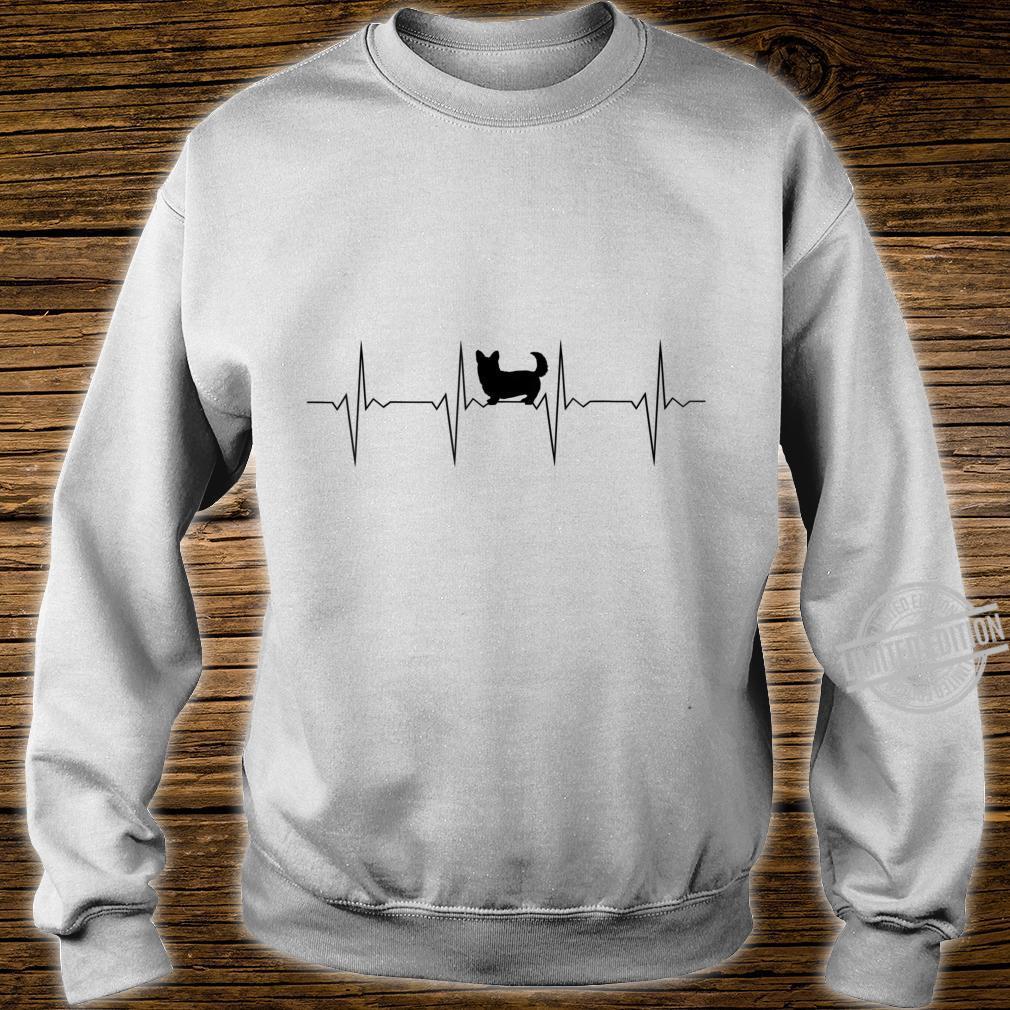 EKG Herzschlag Heartbeat Hund Corgi D0100476B Shirt sweater