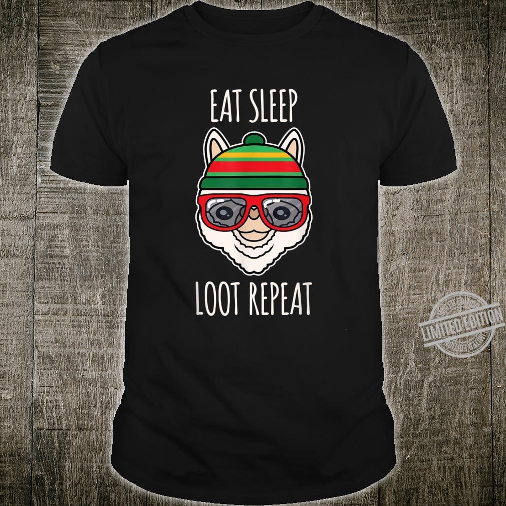Eat Sleep Loot Llamas Alpaca Animals Nerdy Geeks Shirt