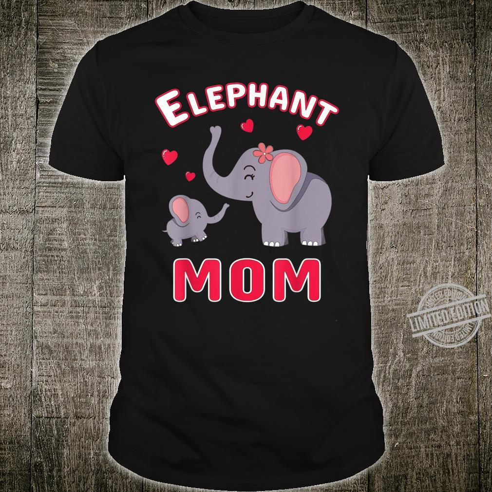 Elephant Mom Cute Love You Mama Mother Mother's Day Shirt
