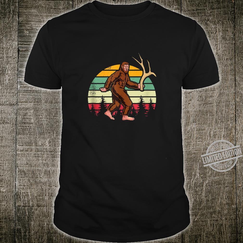Elk Moose Antlers Sasquatch Bigfoot Shed Hunting Shirt