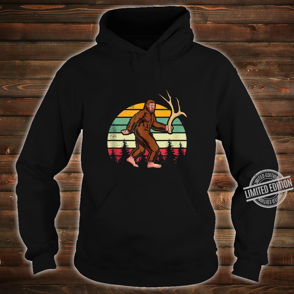 Elk Moose Antlers Sasquatch Bigfoot Shed Hunting Shirt hoodie