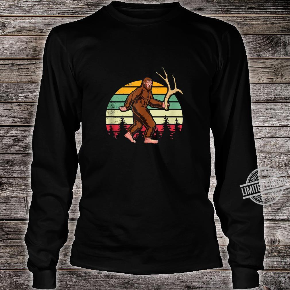 Elk Moose Antlers Sasquatch Bigfoot Shed Hunting Shirt long sleeved