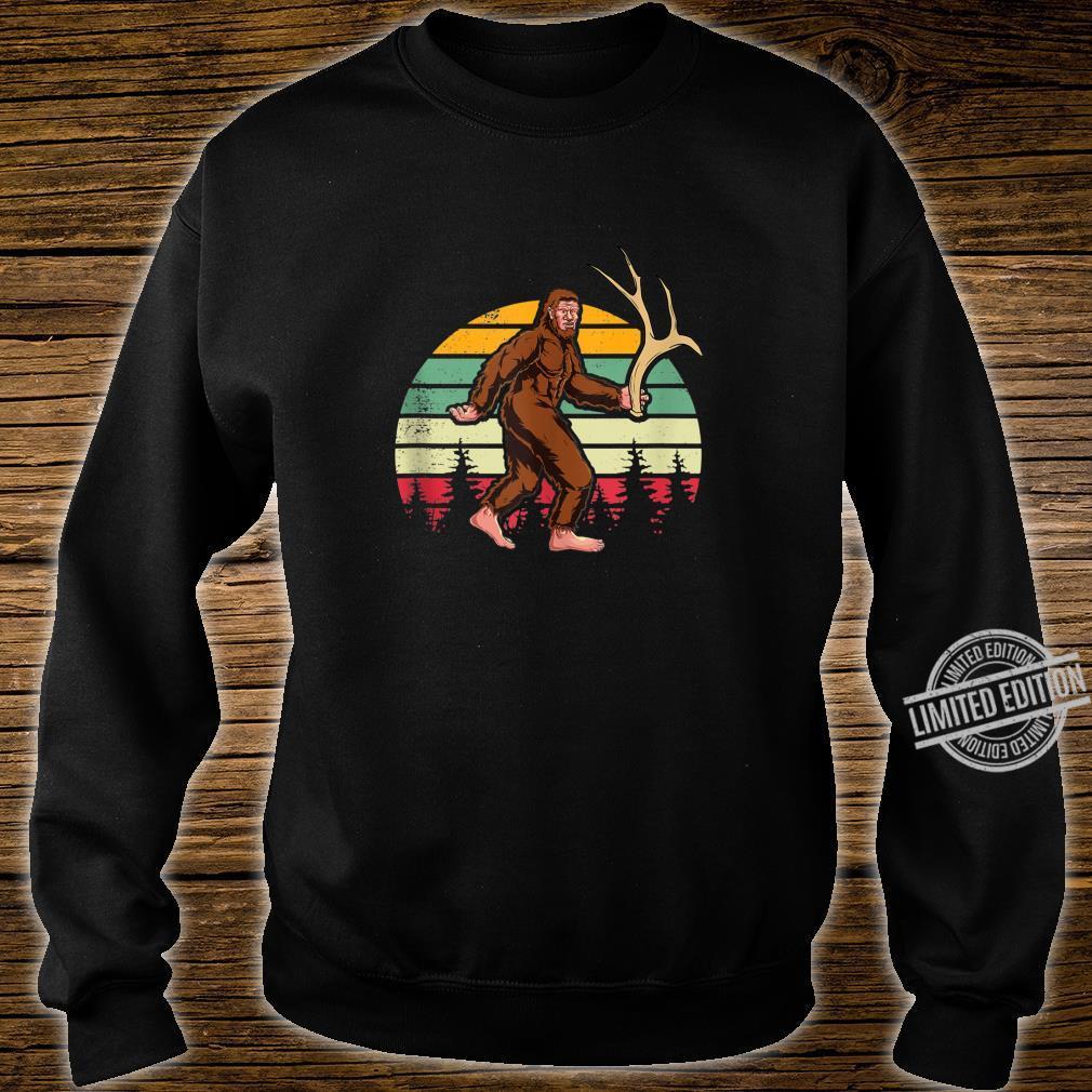 Elk Moose Antlers Sasquatch Bigfoot Shed Hunting Shirt sweater