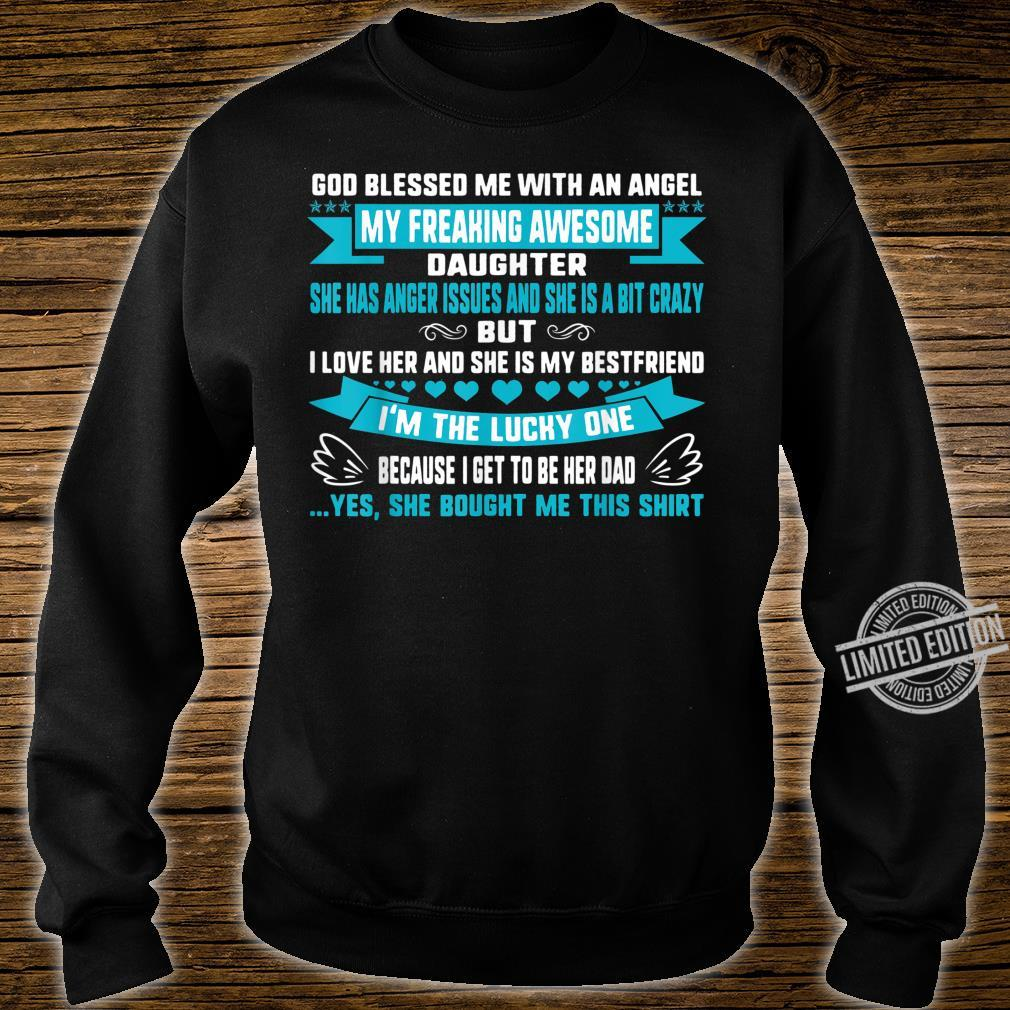 Fathers Day Blessed Lucky Dad Of Crazy Daughter Anger Issues Shirt sweater