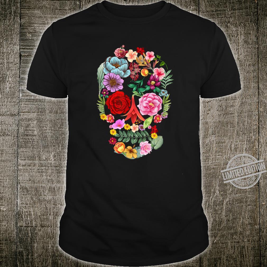 Flower Skull Tree Skull Floral Skull Natural Wonderful Shirt