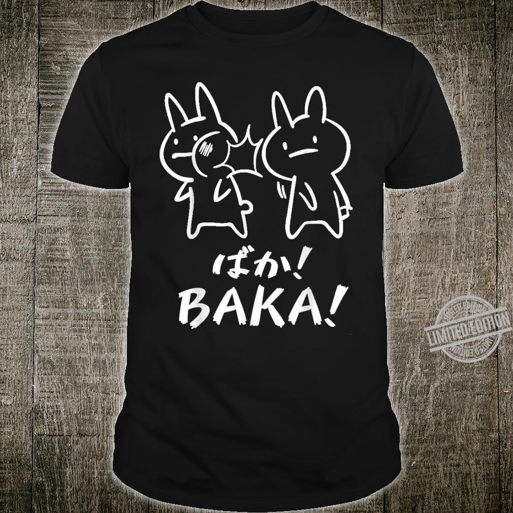 Funny Cute Rabbit Slap Baka Japanese Shirt
