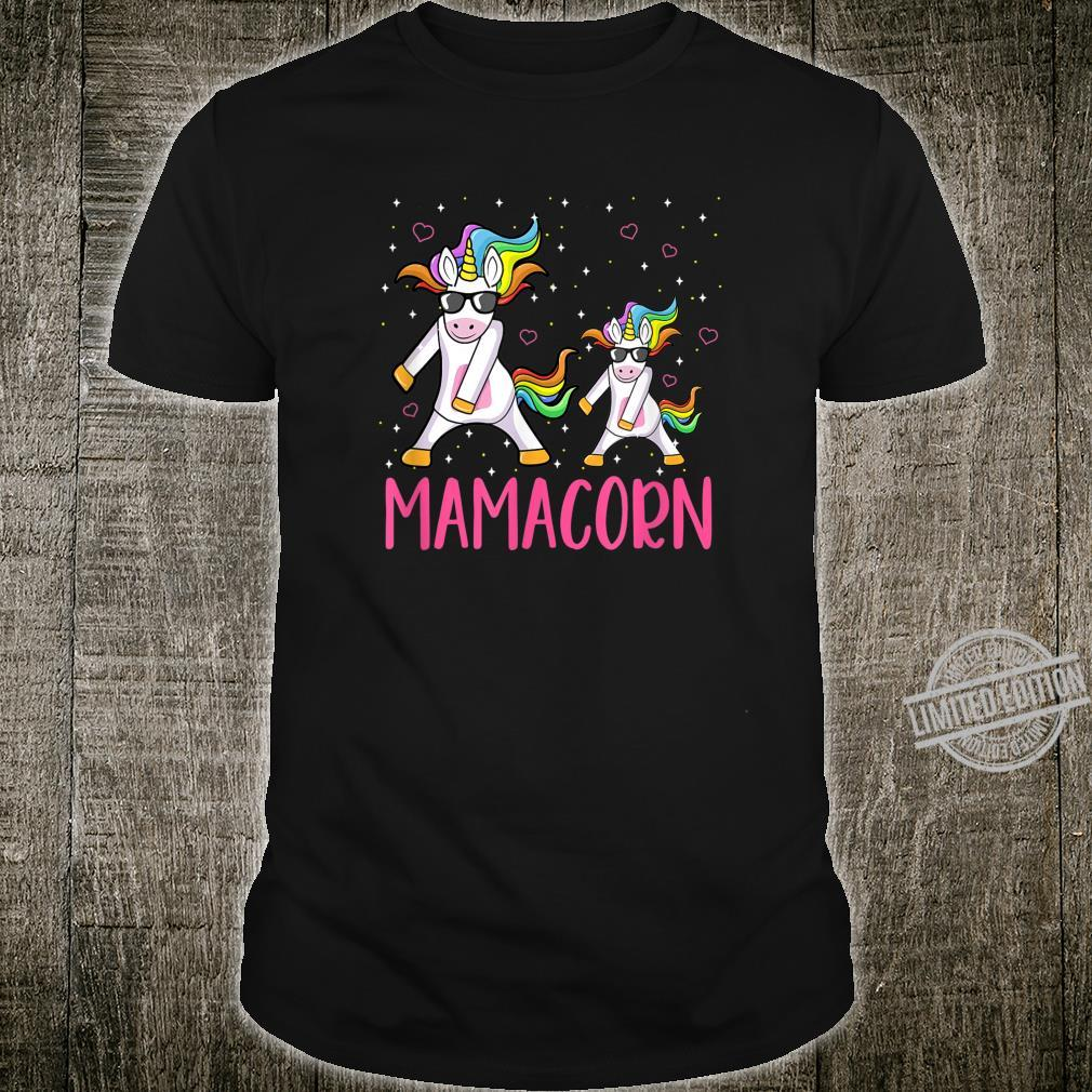 Funny Mamacorn Flossing Unicorn Costume Mom Mother's Day Shirt