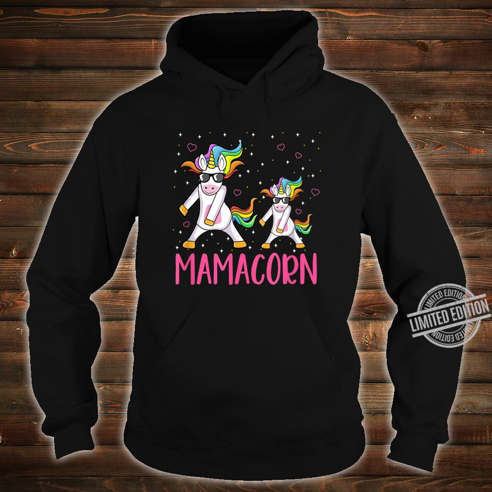 Funny Mamacorn Flossing Unicorn Costume Mom Mother's Day Shirt hoodie