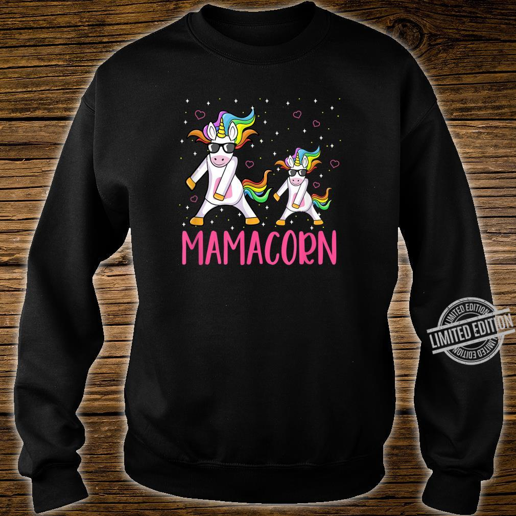 Funny Mamacorn Flossing Unicorn Costume Mom Mother's Day Shirt sweater