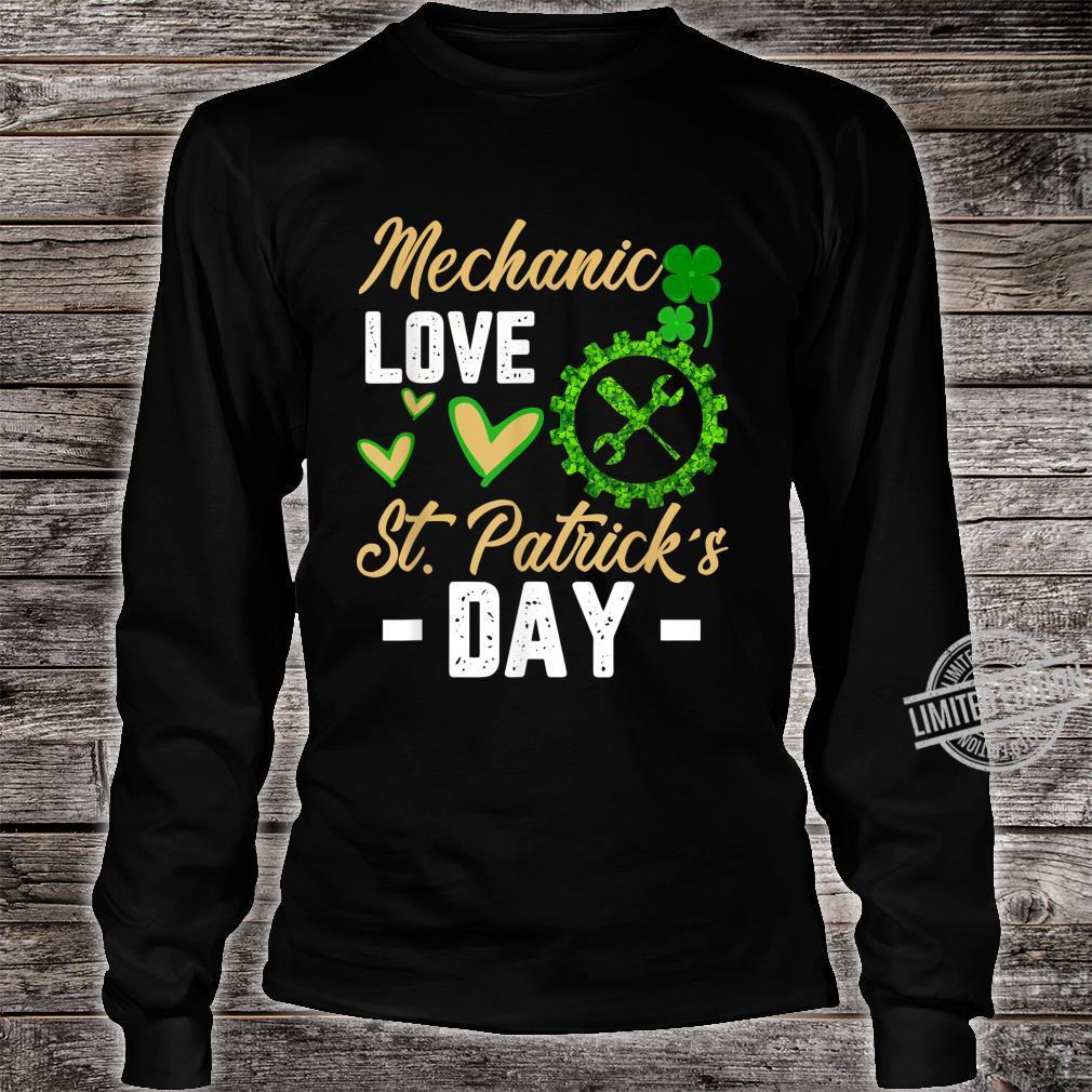Funny Mechanic Love St Patrick's Day Shamrock Shirt long sleeved