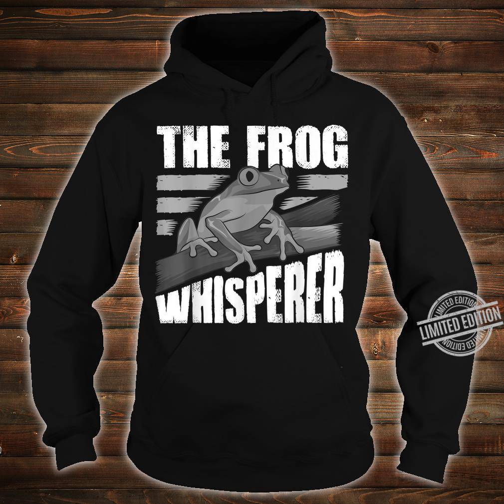 Funny The Frog Whisperer Cute Bullfrog Fan Boys Girls Shirt hoodie