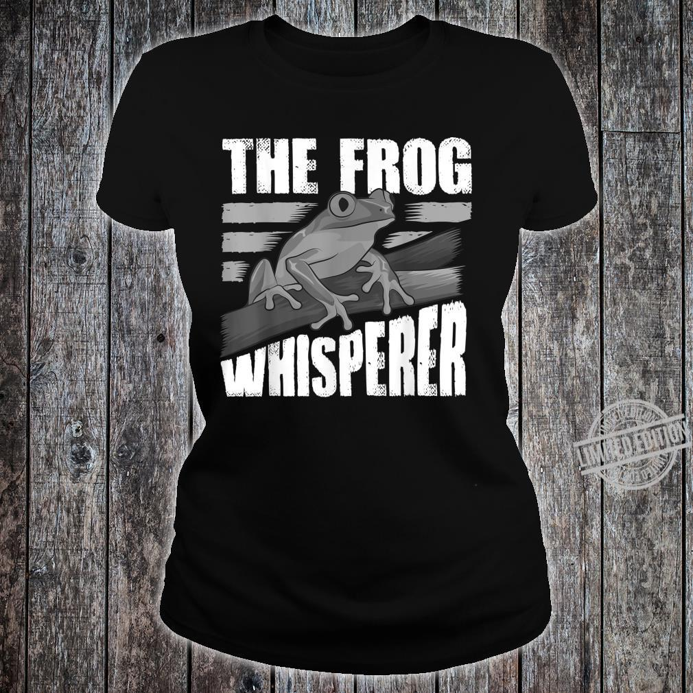 Funny The Frog Whisperer Cute Bullfrog Fan Boys Girls Shirt ladies tee