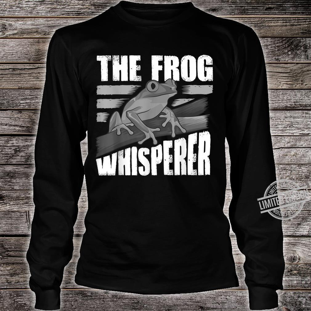 Funny The Frog Whisperer Cute Bullfrog Fan Boys Girls Shirt long sleeved