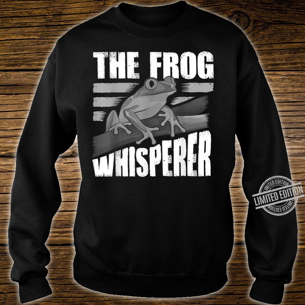 Funny The Frog Whisperer Cute Bullfrog Fan Boys Girls Shirt sweater