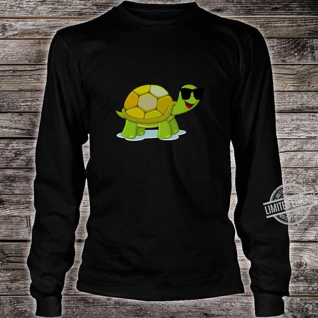 Funny Turtle Wearing Sunglasses Shirt long sleeved
