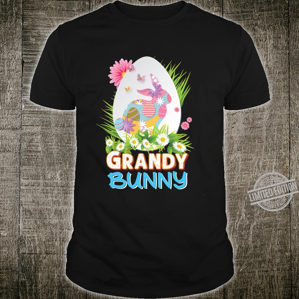 Grandy Bunny Cute Matching Family Rabbit Easter Egg Hunt Shirt