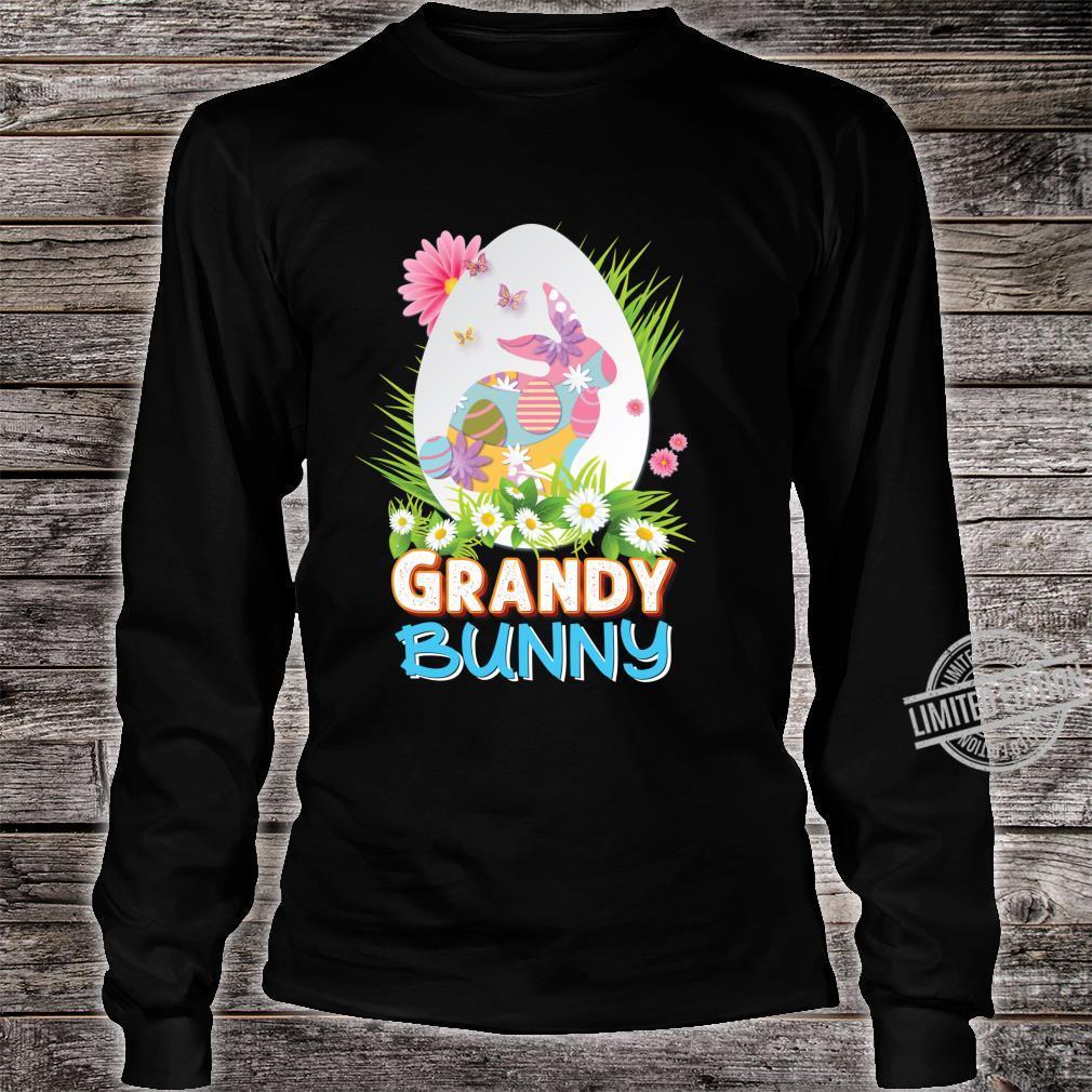 Grandy Bunny Cute Matching Family Rabbit Easter Egg Hunt Shirt long sleeved