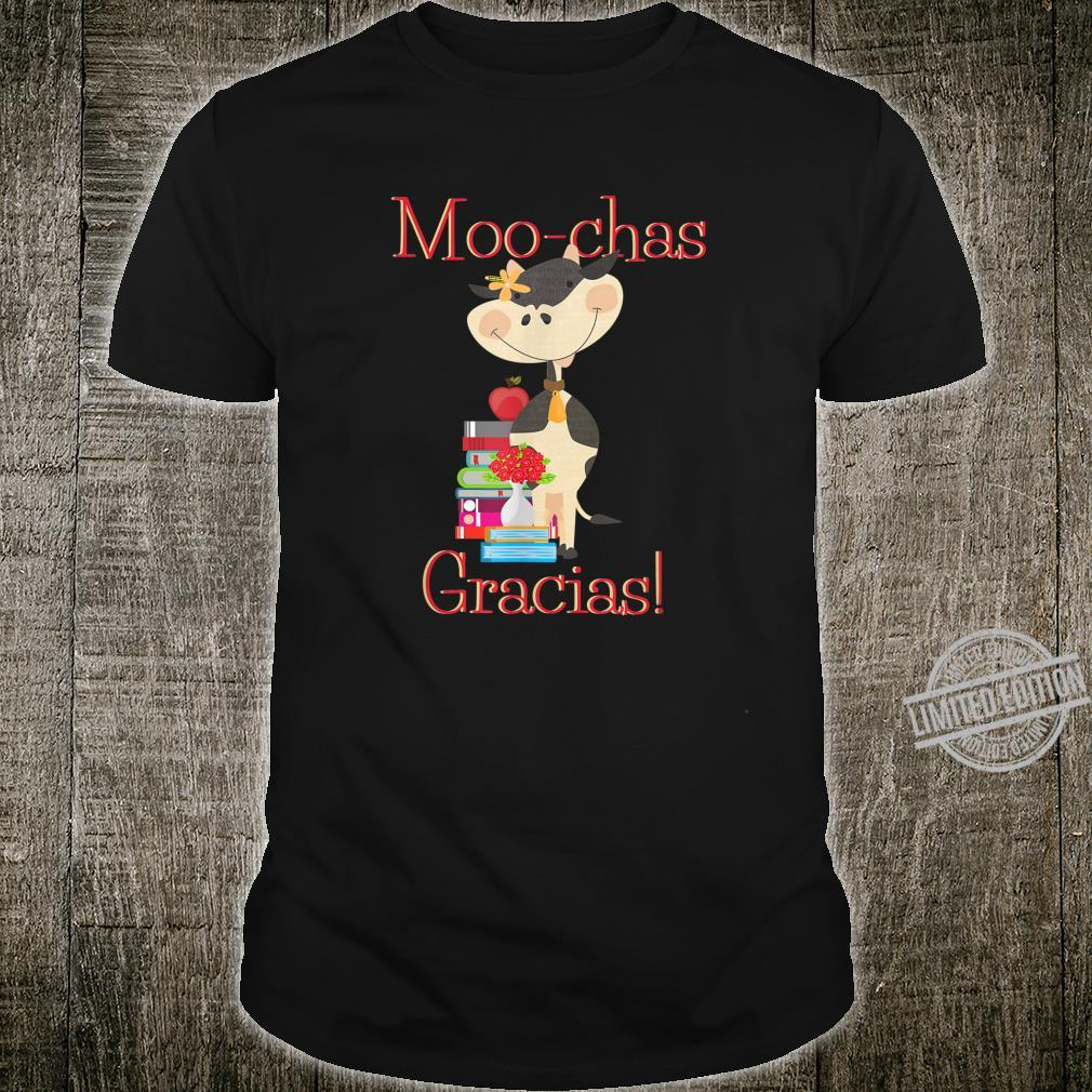 Gratitude Design for Teacher Appreciation Moochas Gracias Shirt