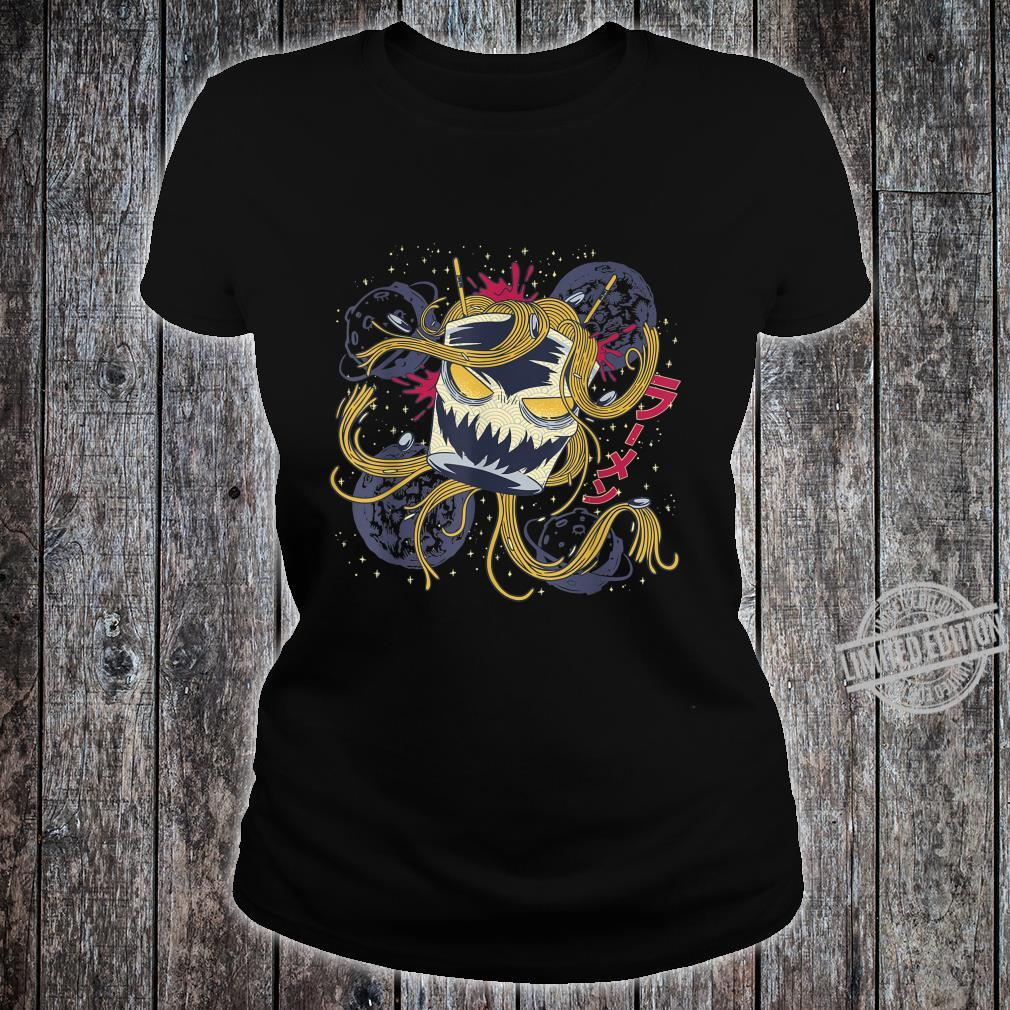 Great Kawaii Japanese Ramen Space Monster Anime Otaku Shirt ladies tee