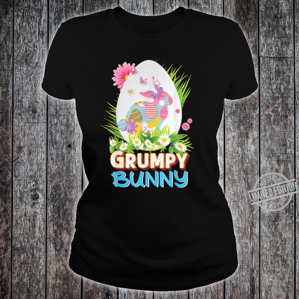 Grumpy Bunny Cute Matching Family Rabbit Easter Egg Hunt Shirt ladies tee
