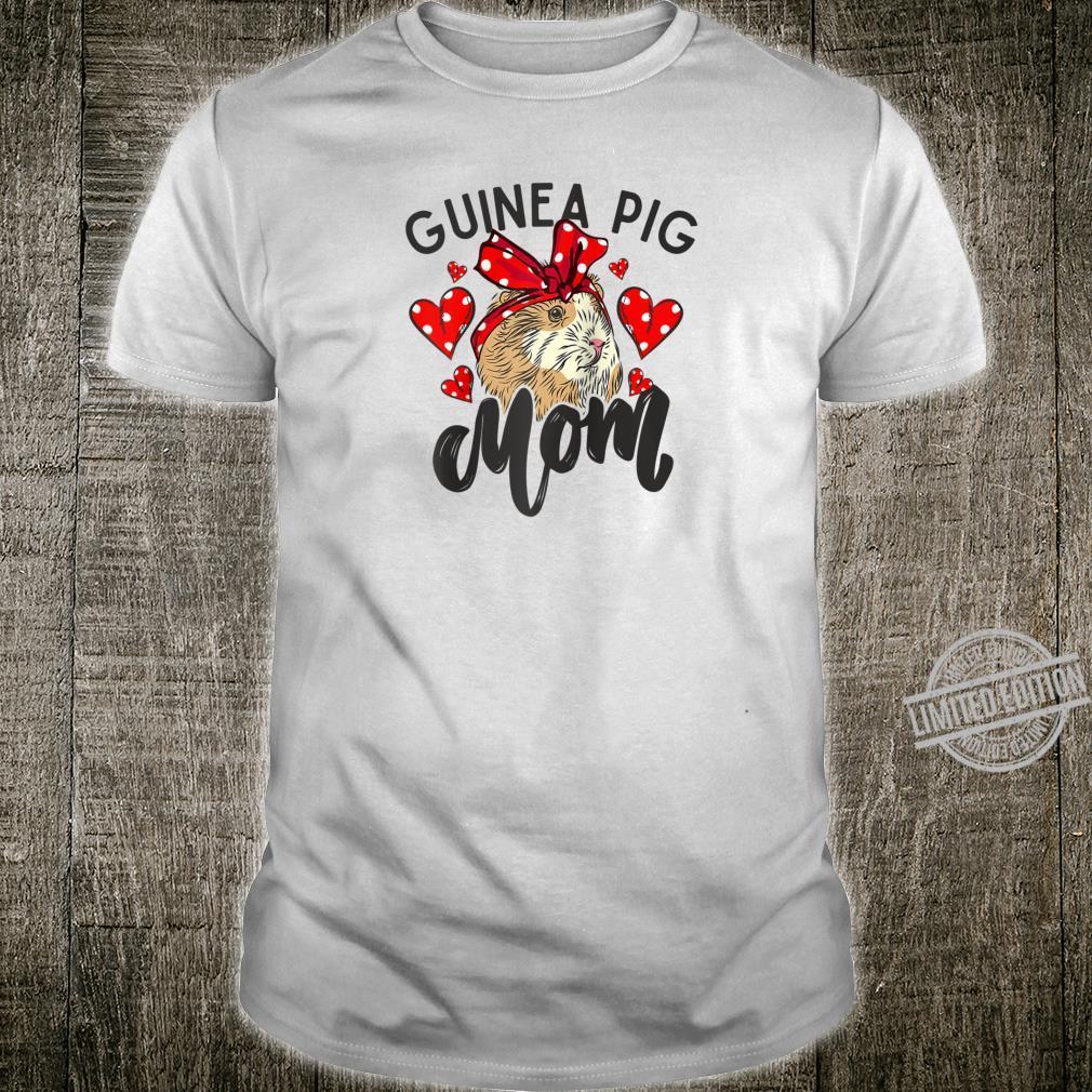 Guinea Pig Mom Bandana Hearts Cute Fluffy Pet Shirt