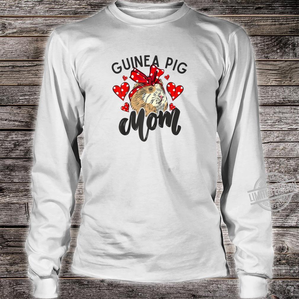 Guinea Pig Mom Bandana Hearts Cute Fluffy Pet Shirt long sleeved