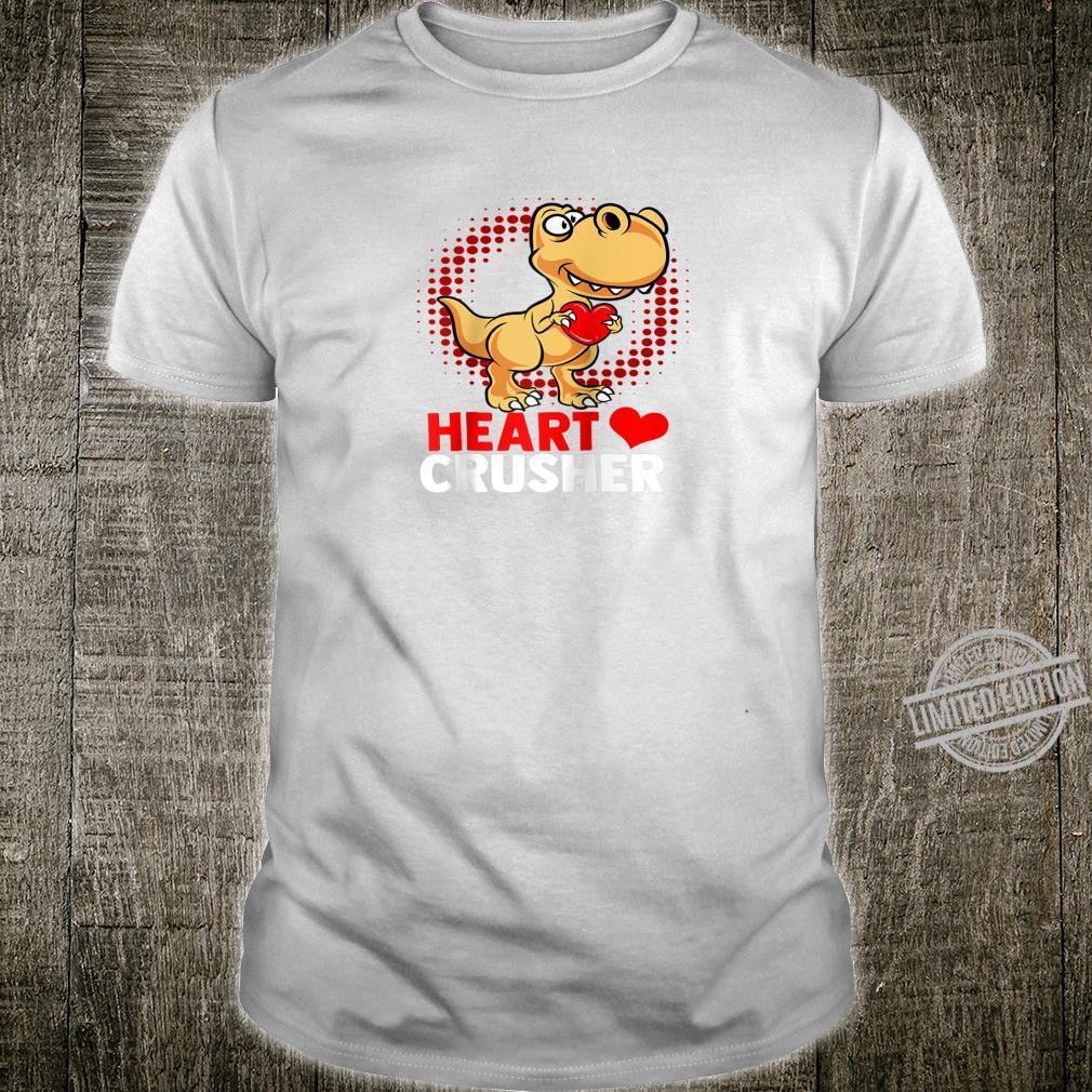 Heart Dinosaur Heart Cute Valentine's Day Girl Kid Shirt