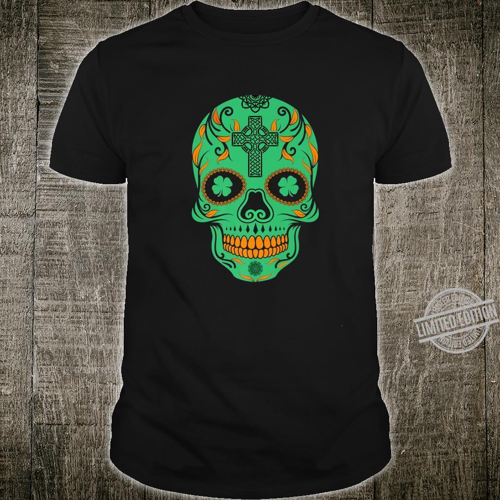 Irish Sugar Skull St Patricks Day Of The Dead Celtic Shirt