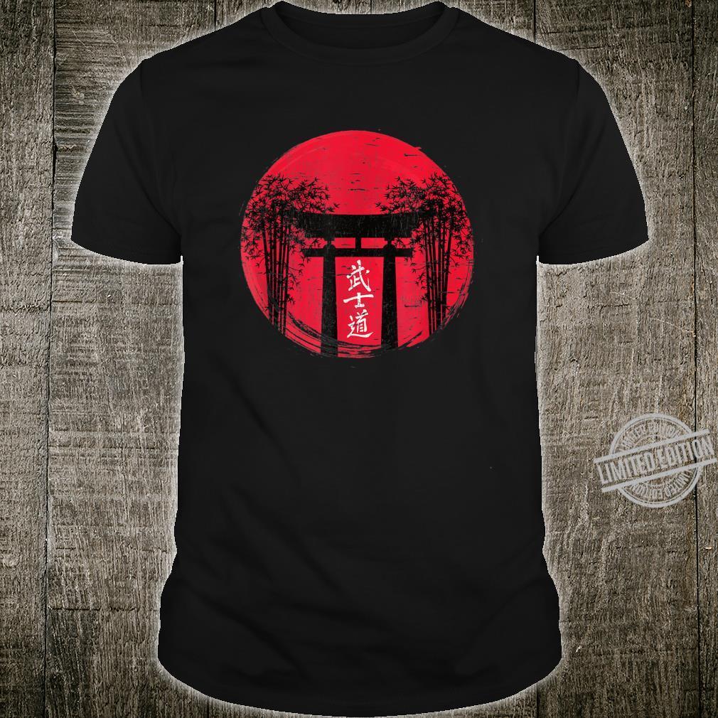 Japanese Red Sun Japan Bushido Shrine Vintage Retro Shirt