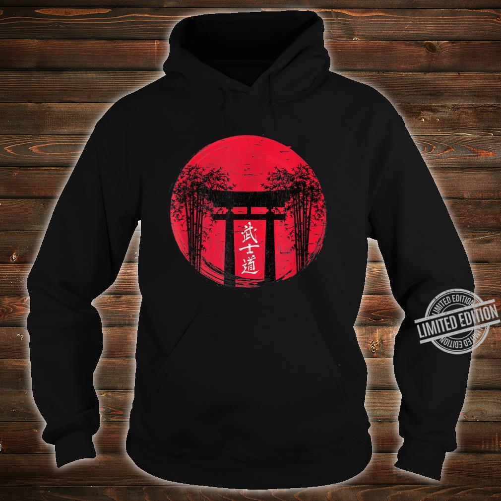 Japanese Red Sun Japan Bushido Shrine Vintage Retro Shirt hoodie
