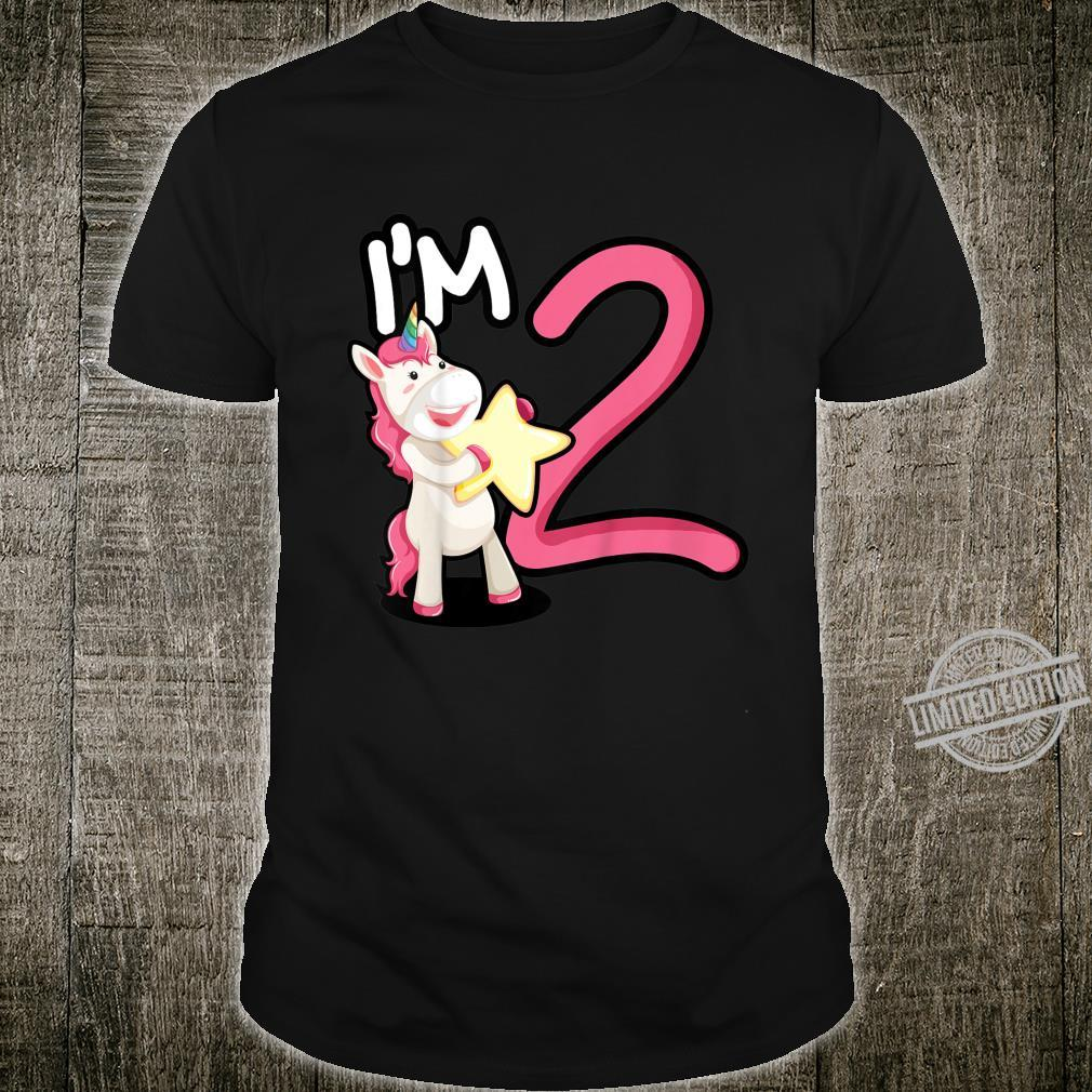 Kids two years old unicorn star birthday two year old girl Shirt