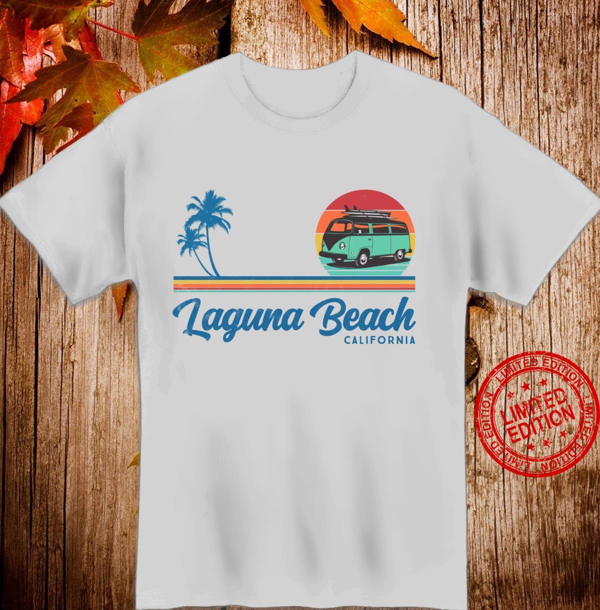 Laguna Beach California Retro Surfer Vintage van Surf Shirt