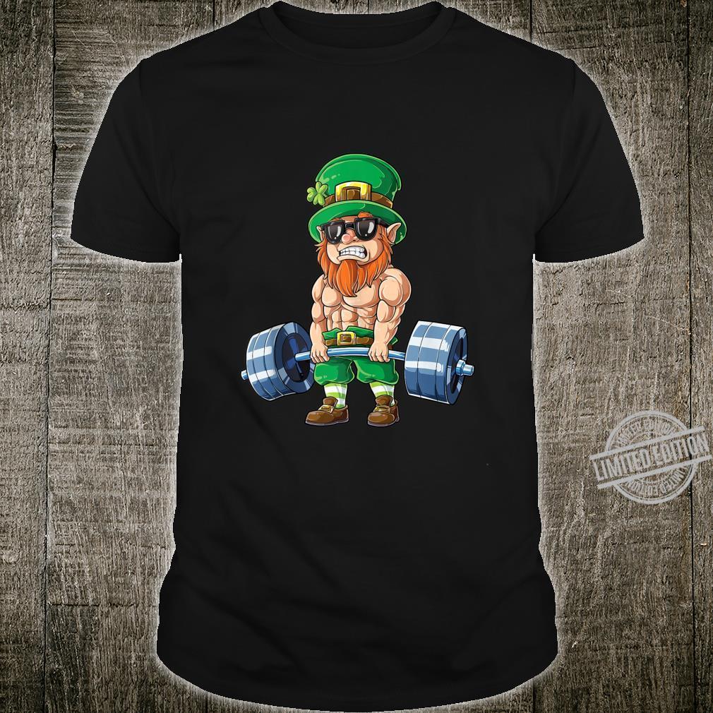 Leprechaun St Patricks Day Weightlifting Deadlift Fitness Shirt